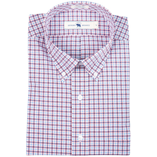 Red Plaid Classic Fit Stretch Cotton Button Down