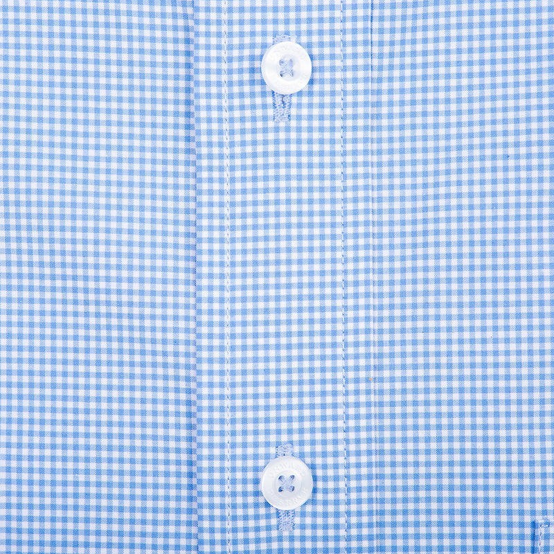 Sky Micro Gingham Classic Fit Stretch Cotton Button Down - OnwardReserve