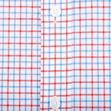 Red Tattersall Tailored Fit Stretch Cotton Button Down