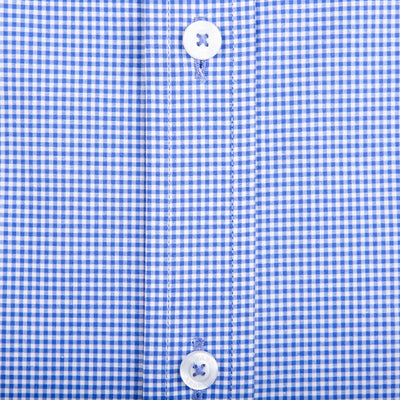 Navy Micro Gingham Tailored Fit Stretch Cotton Button Down - OnwardReserve