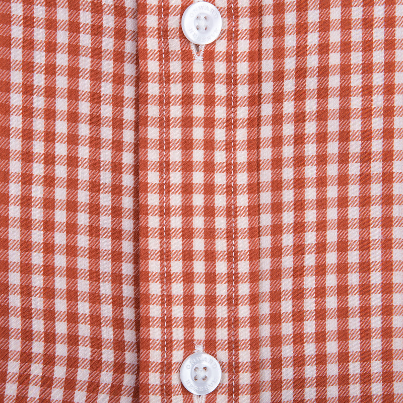 Brick Gingham Tailored Fit Performance Twill Button Down
