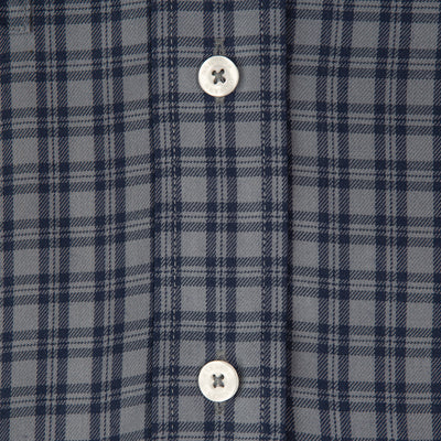 Grey/Navy Plaid Classic Fit Performance Twill Button Down - OnwardReserve