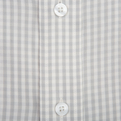 Grey Gingham Classic Fit Performance Twill Button Down - OnwardReserve