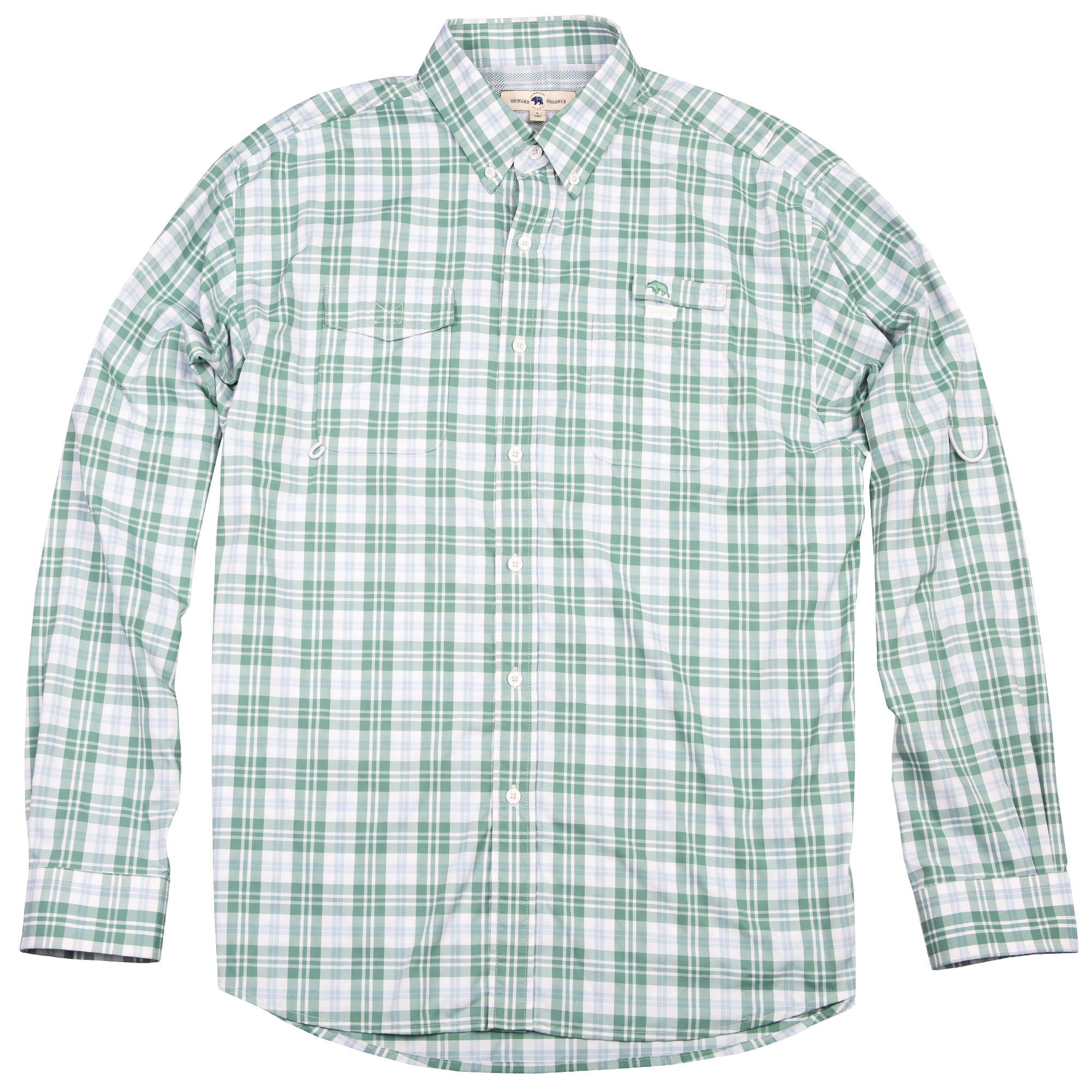 Performance Fishing Shirt - Vintage Green Plaid - OnwardReserve