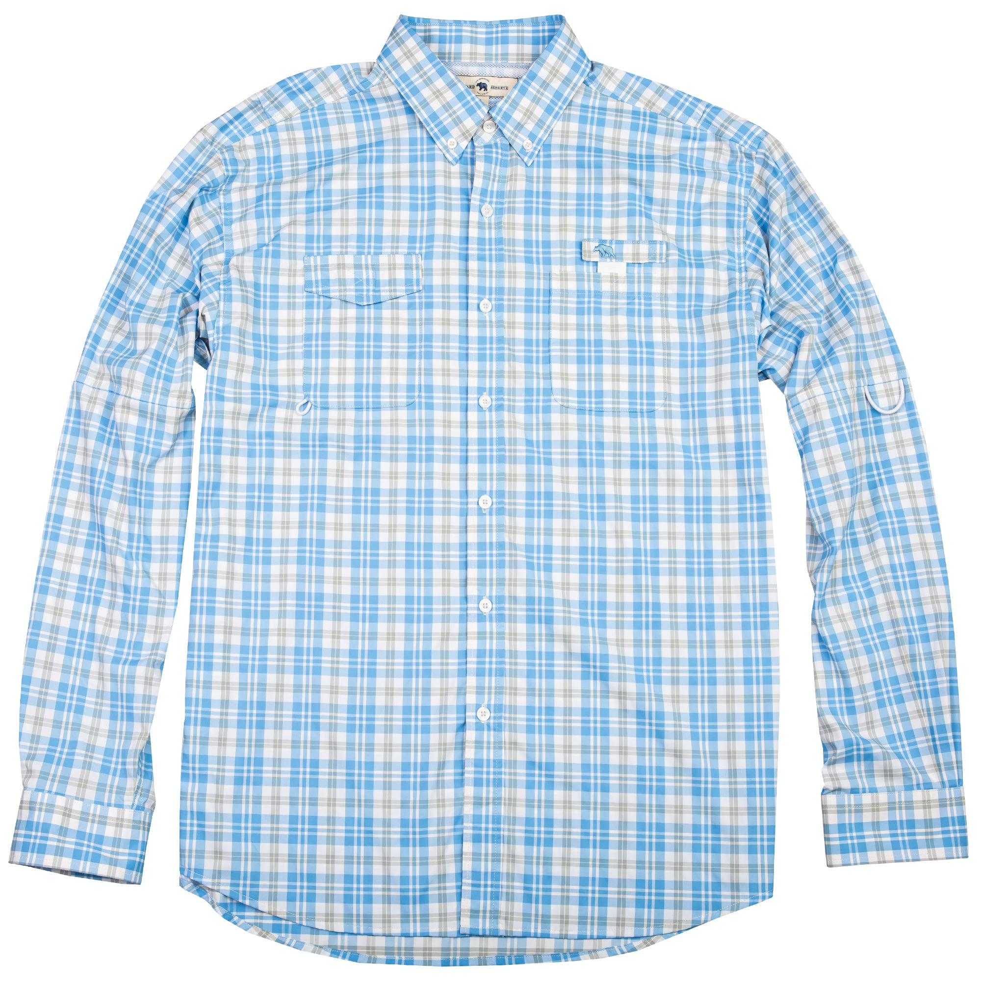 Performance Fishing Shirt - Blue Plaid - OnwardReserve
