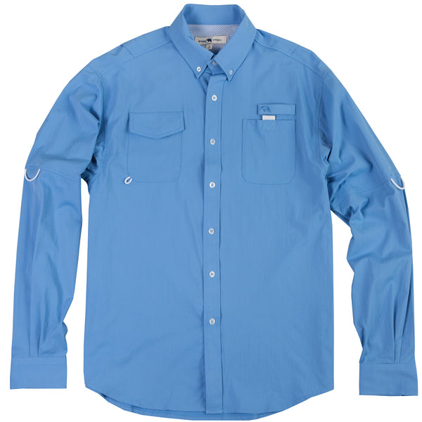 Islamorada Fishing Shirt - Solid Blue