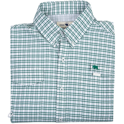 Islamorada Fishing Shirt - Green Check