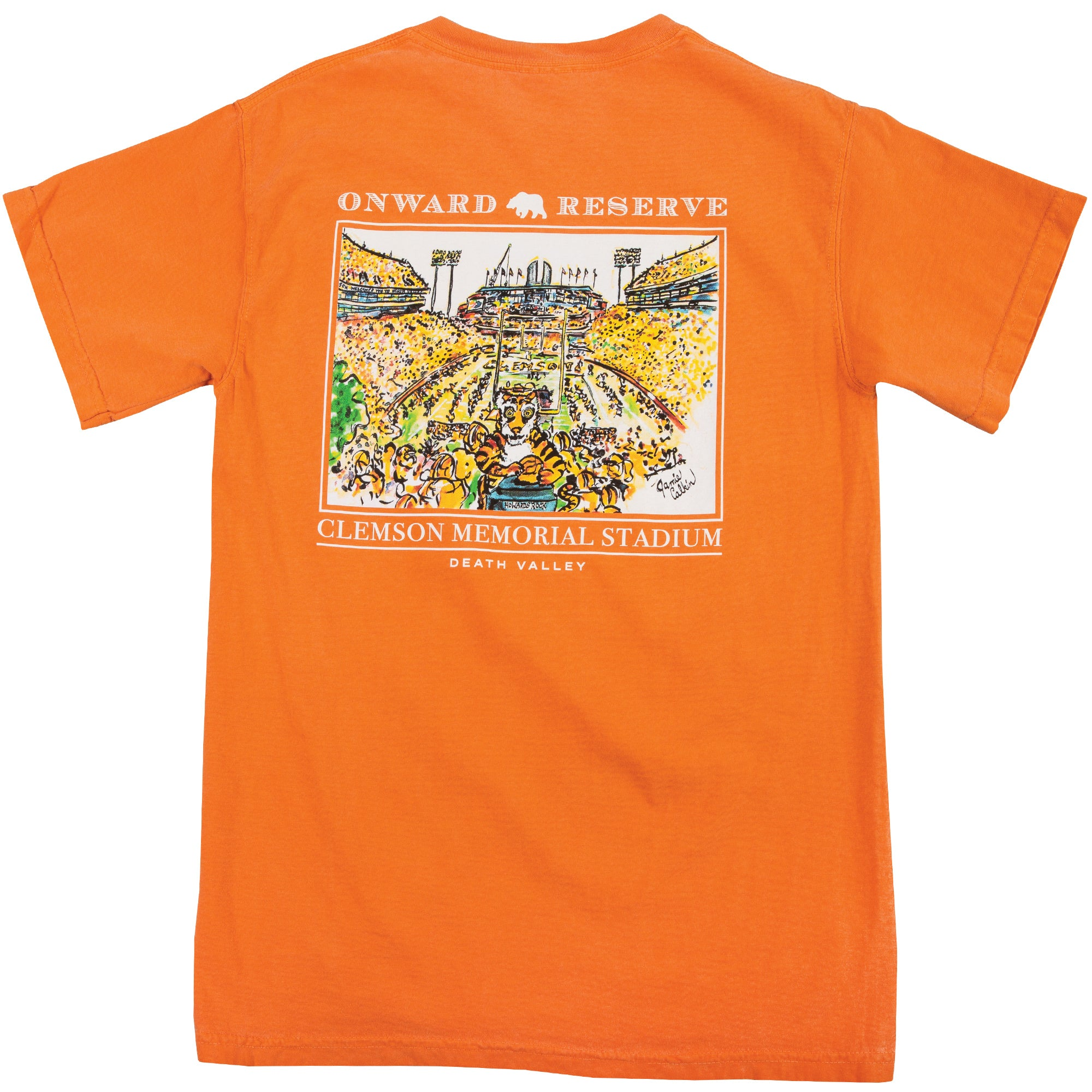 Jamie Calkin Death Valley Stadium Short Sleeve Tee