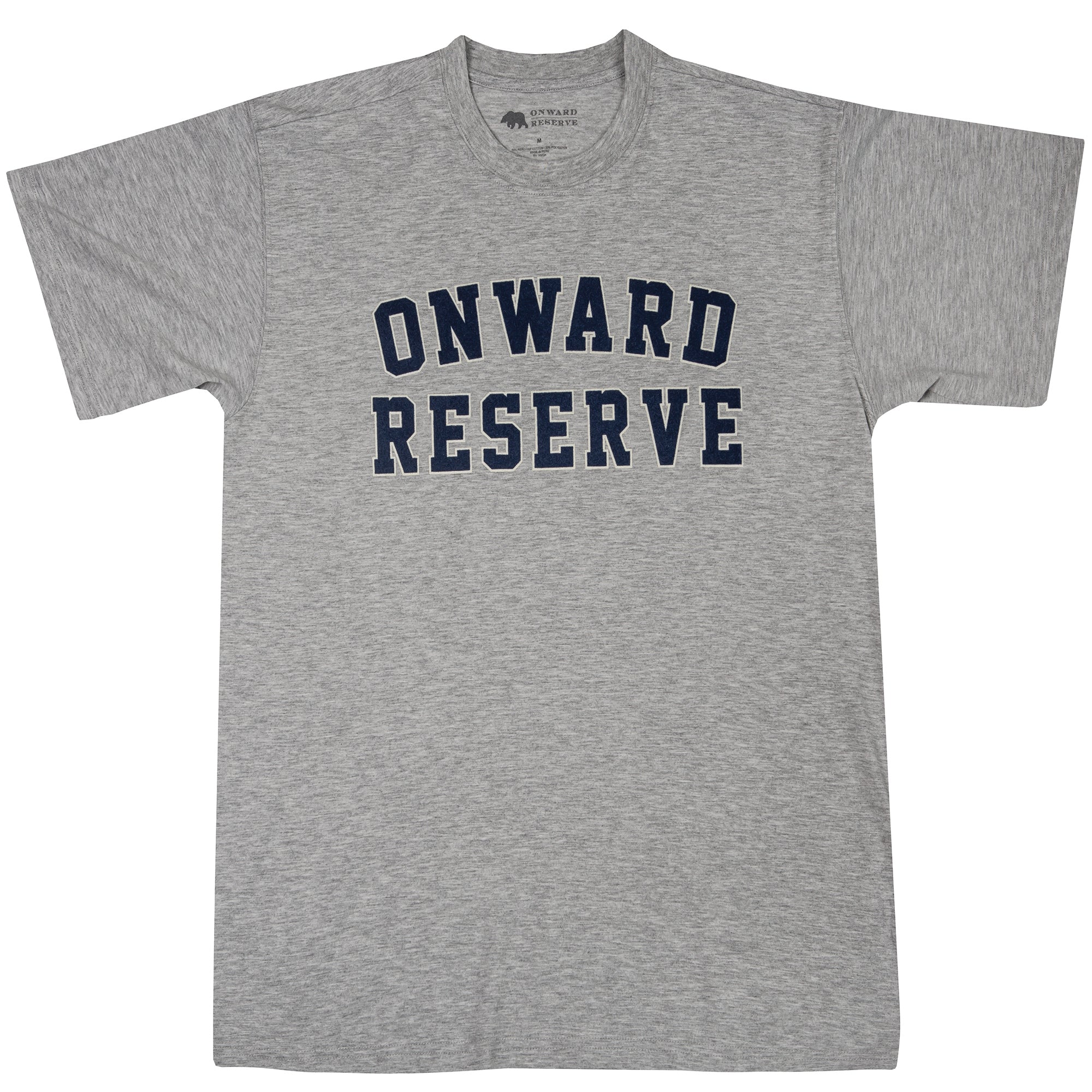 Onward Reserve Flocked Collegiate Short Sleeve Tee