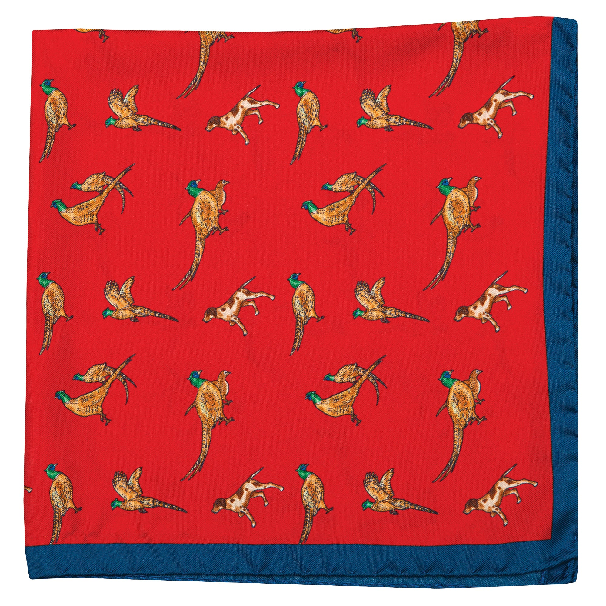Partridge Silk Pocket Square