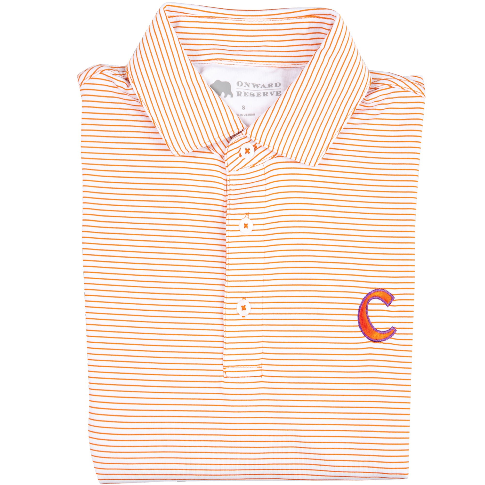 Birdie Stripe Clemson C Polo - OnwardReserve