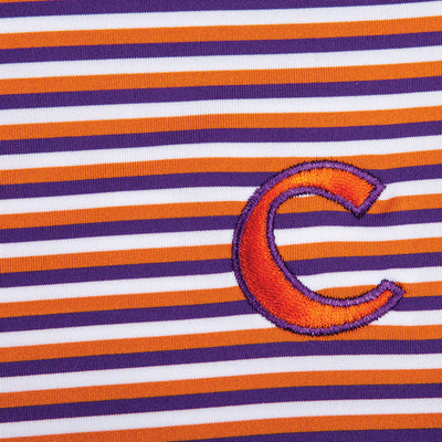 Triple Stripe Clemson C Polo