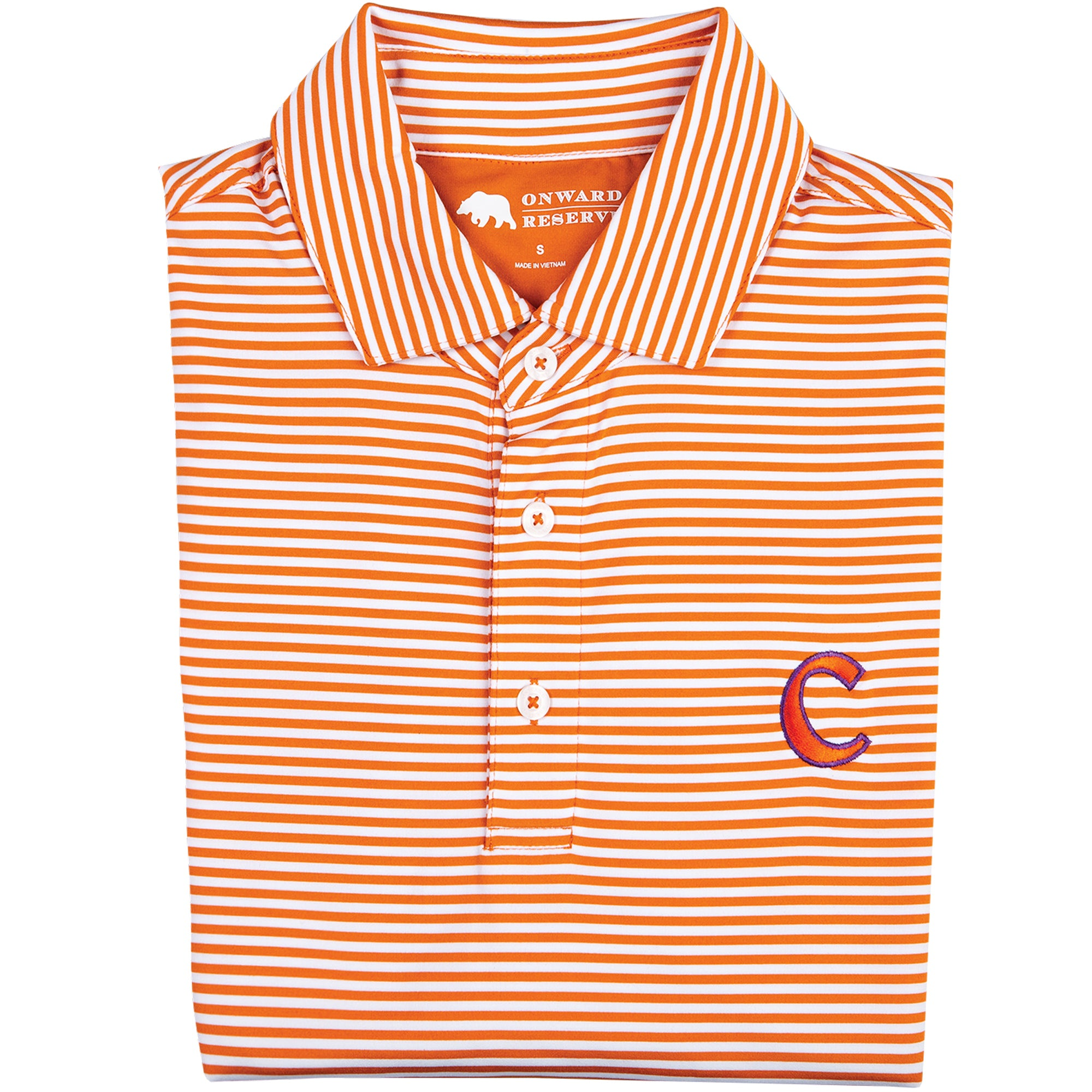Pro Stripe Clemson C Polo - OnwardReserve