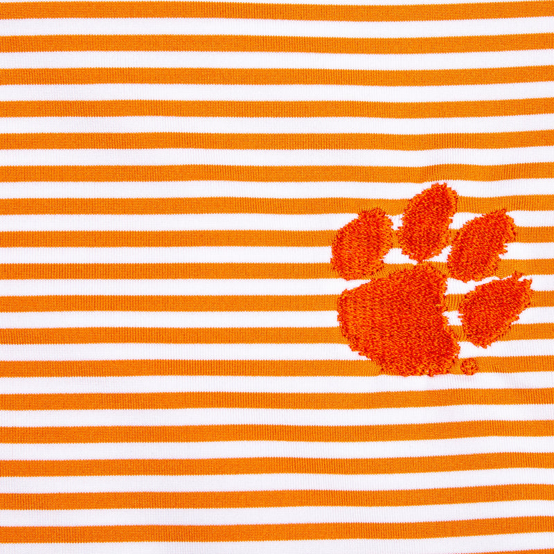 Pro Stripe Clemson Paw Polo - OnwardReserve