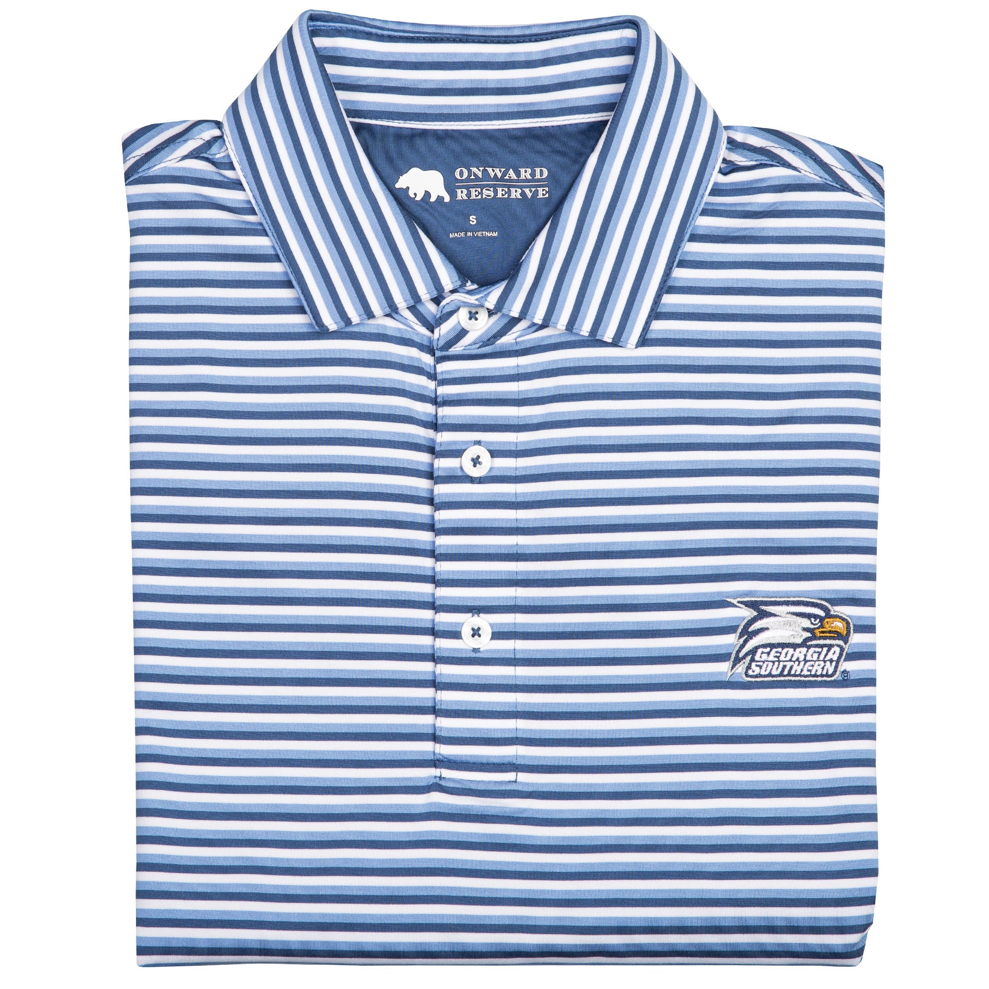 Triple Stripe Georgia Southern Polo - OnwardReserve