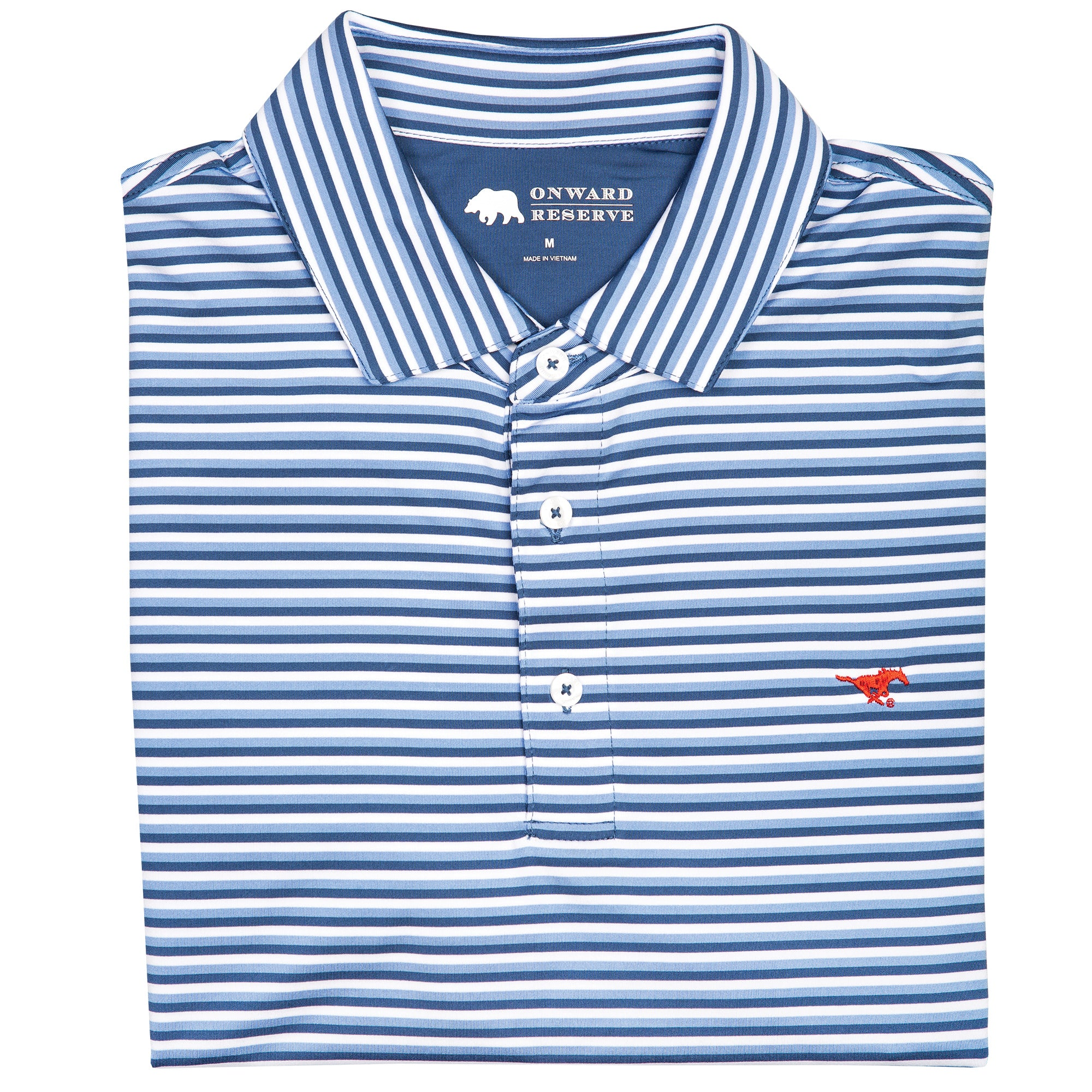 Triple Stripe SMU Polo - OnwardReserve