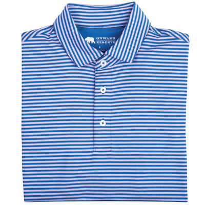 Pro Stripe Performance Polo Lilac/Delft