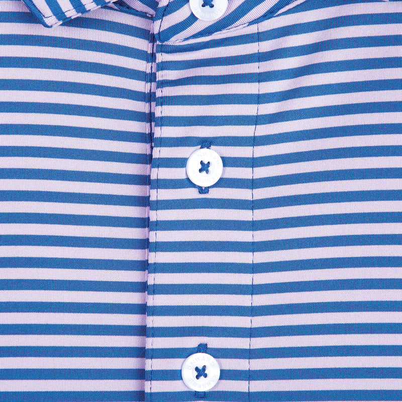 Pro Stripe Performance Polo Lilac/Delft - OnwardReserve