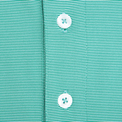 Hairline Stripe Performance Polo Green