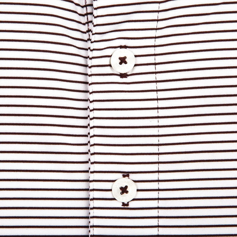 Birdie Stripe Performance Polo - Maroon/White - OnwardReserve