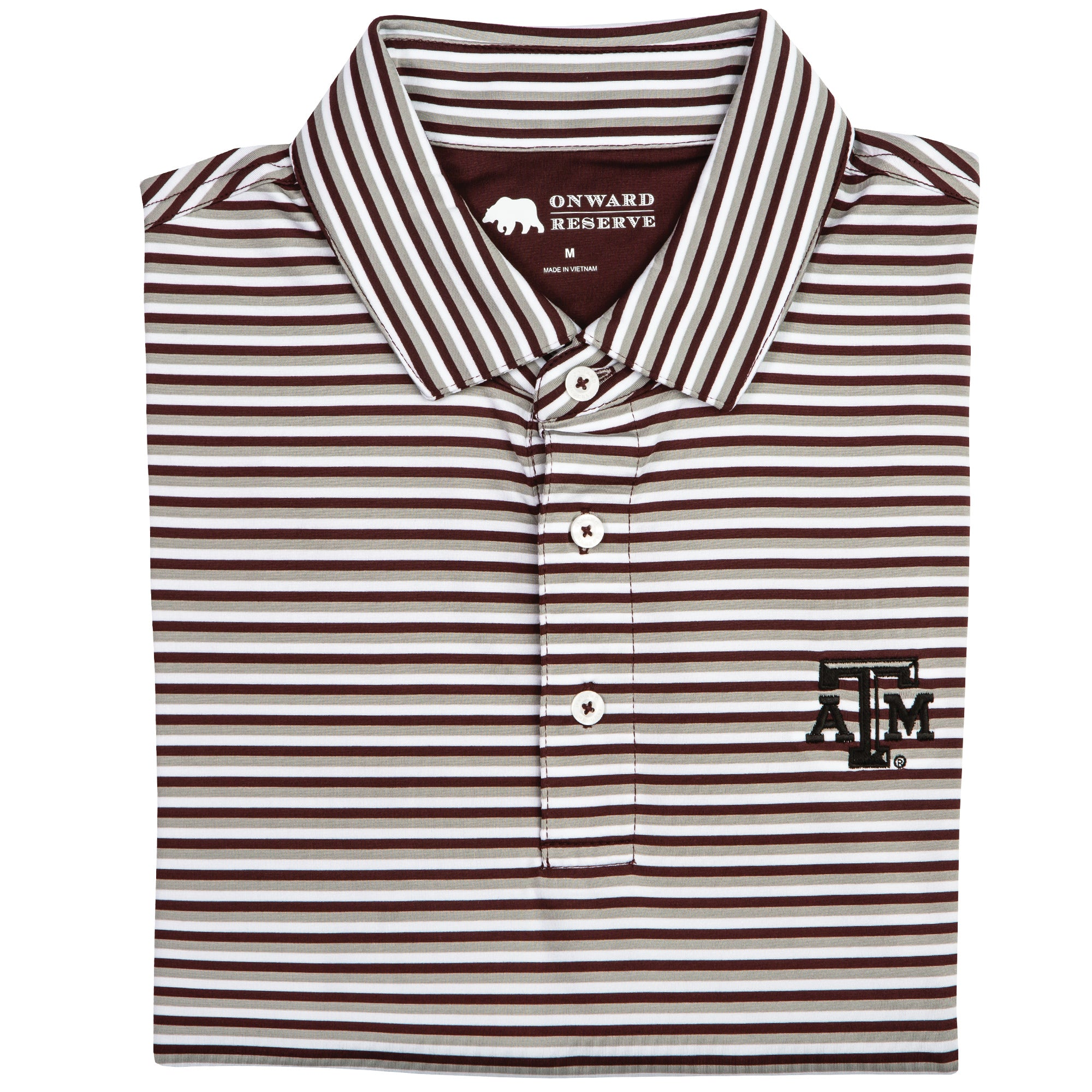 Triple Stripe Texas A&M Polo - OnwardReserve