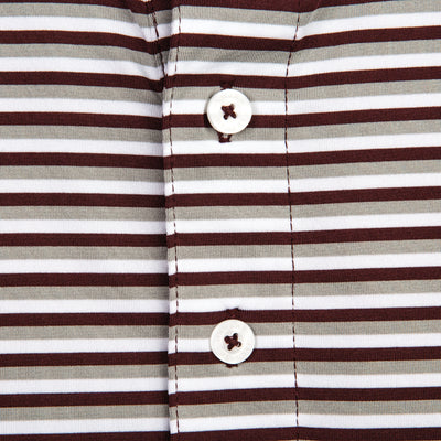Triple Stripe Texas A&M Polo
