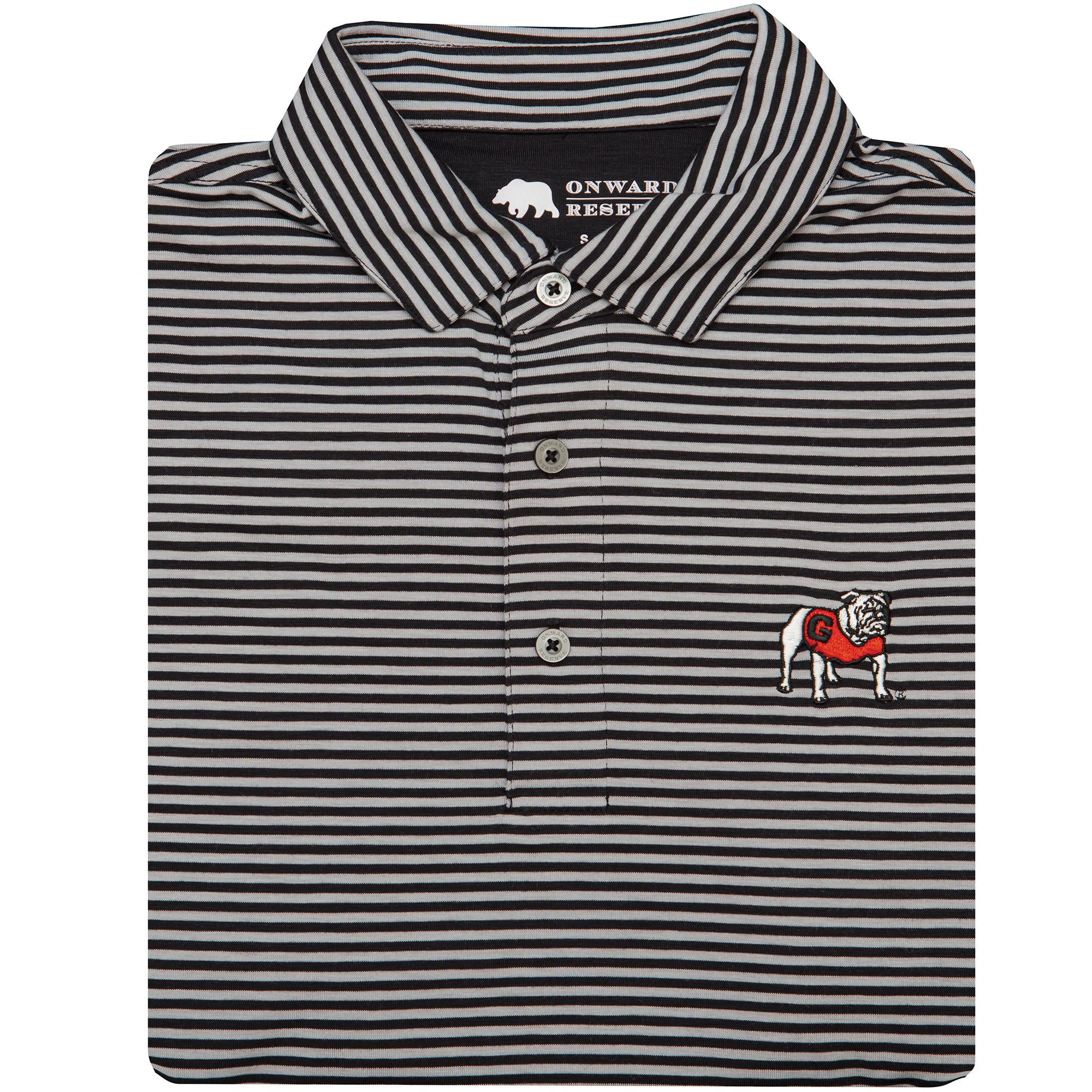 Club Stripe Standing Bulldog Polo