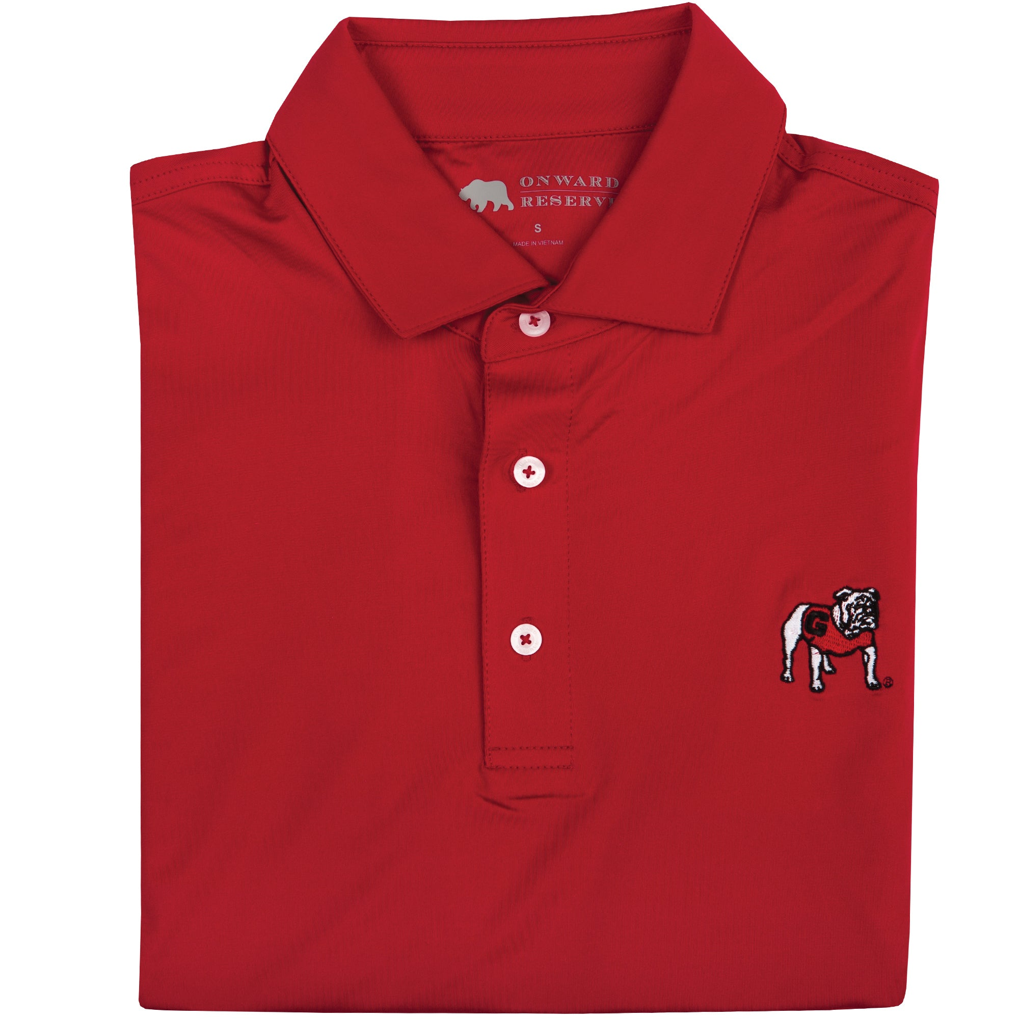Solid Standing Bulldog Performance Polo