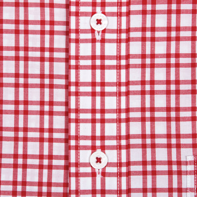 Large Red Check Classic Fit Stretch Cotton Button Down
