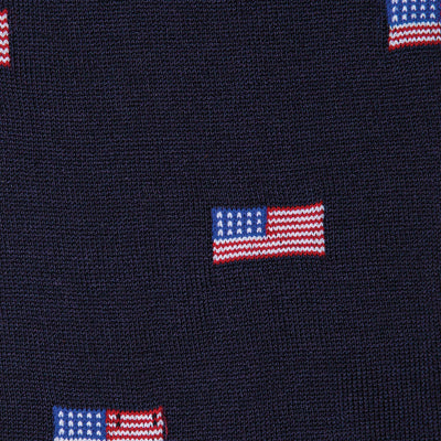 Navy American Flag Mid-Calf Cotton Socks