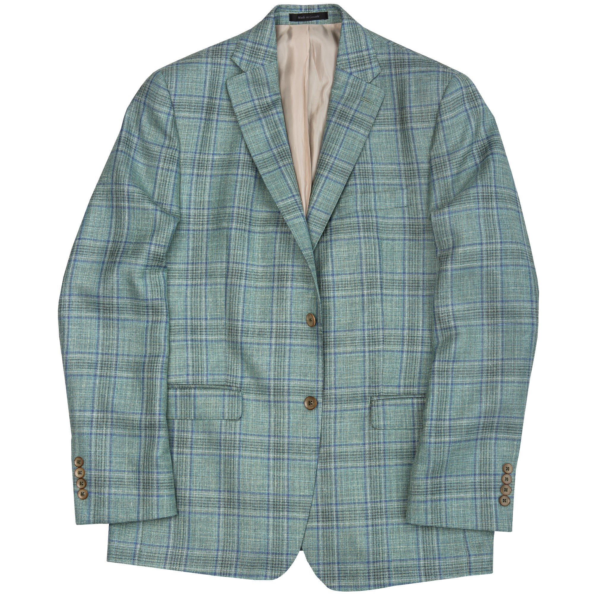 Loro Piana Green Plaid Summertime Sport Coat