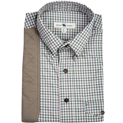 Smoke Gingham Performance Shooting Shirt