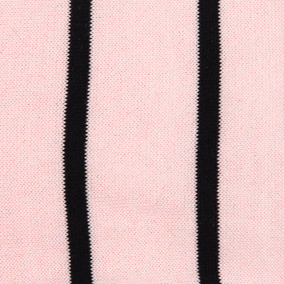 Pink & Navy Stripe Mid-Calf Cotton Socks