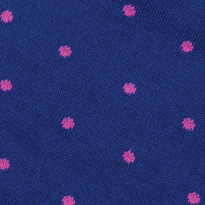 Blue & Rose Dot Mid-Calf Cotton Socks - OnwardReserve