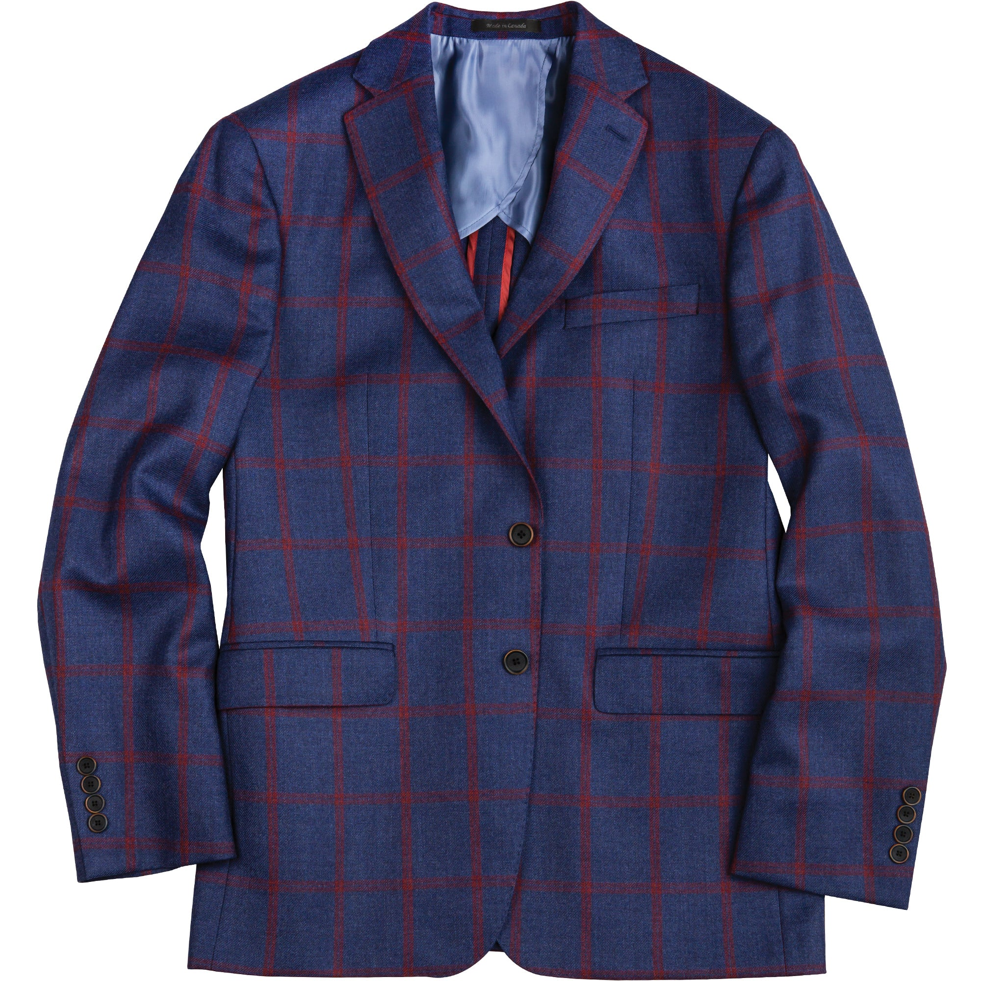 Loro Piana Red Windowpane Sport Coat