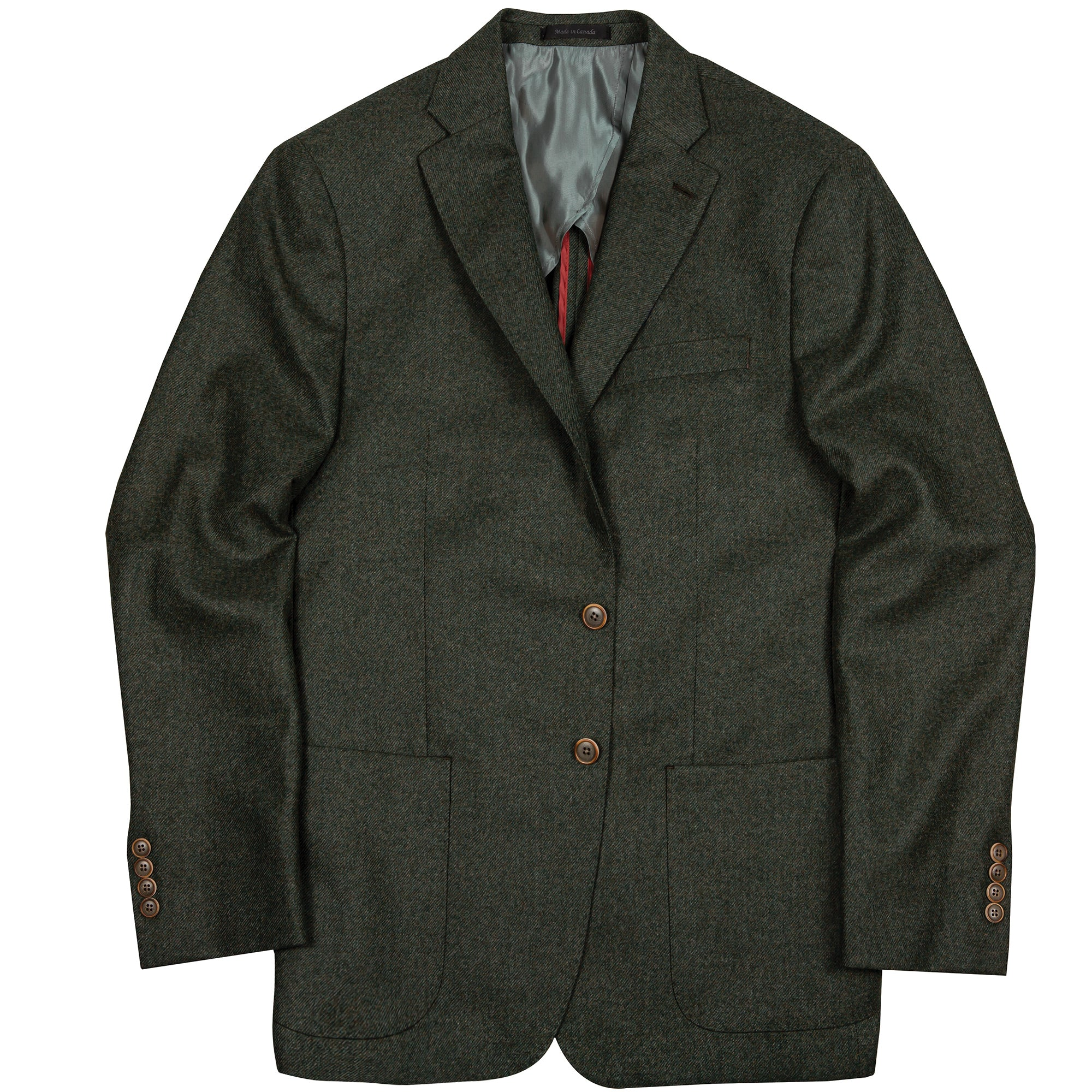 Loro Piana Green Cashmere Blend Sport Coat