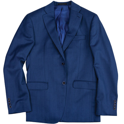 Vitale Barberis Canonico Navy Herringbone Sport Coat - OnwardReserve