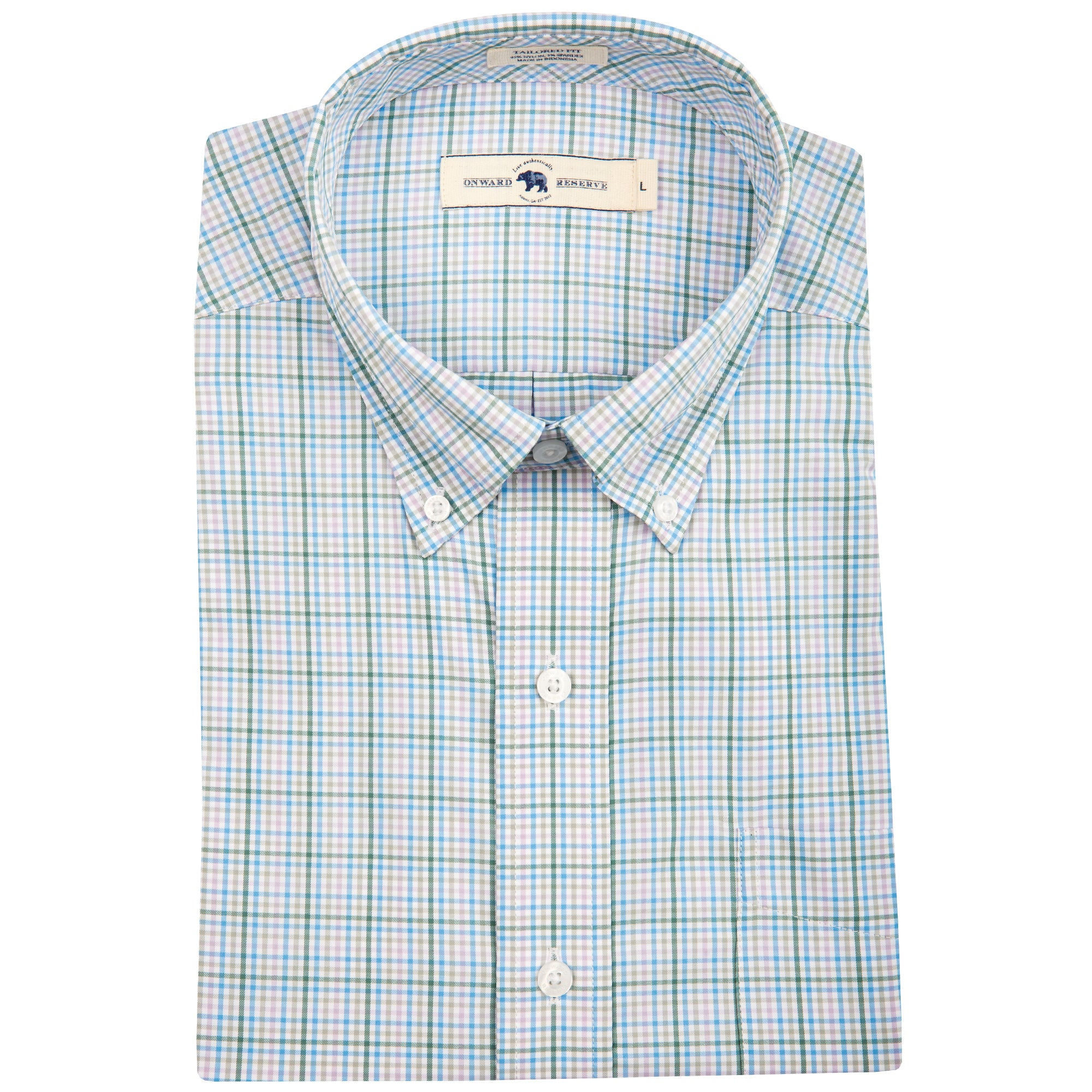 Cloud Tailored Fit Performance Button Down - OnwardReserve