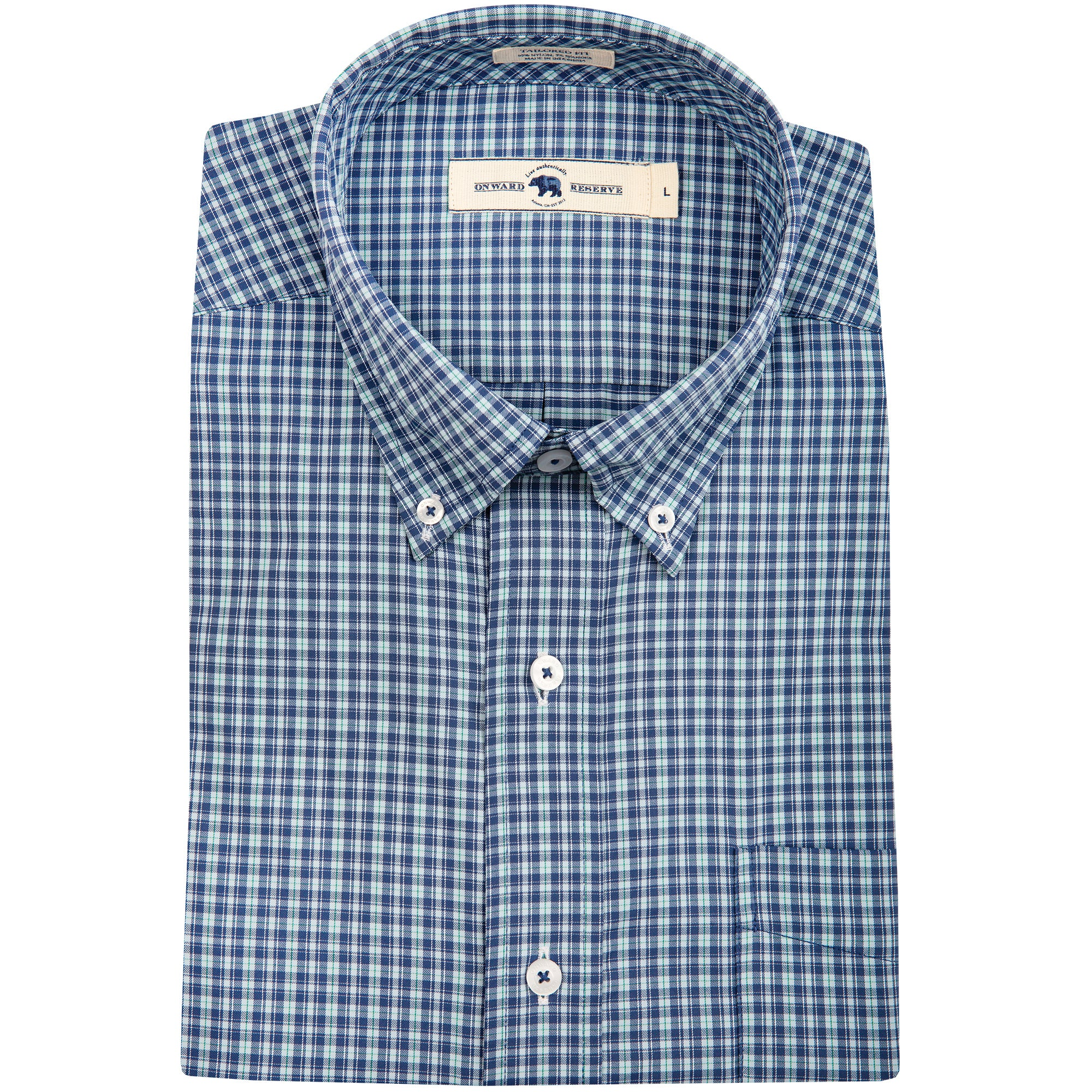 Lake Tailored Fit Performance Button Down - OnwardReserve