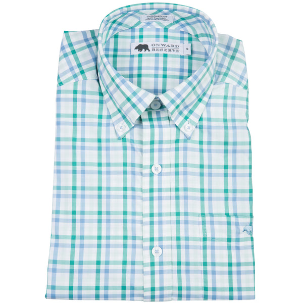 Pine Performance Tailored Fit Button Down