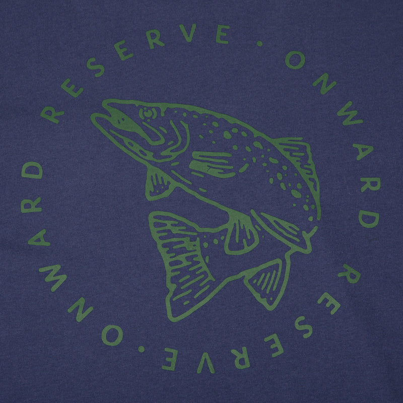 Trout Short Sleeve Tee- Twilight Blue