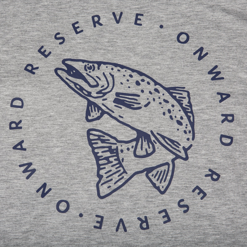 Trout Short Sleeve Tee- Heather Grey