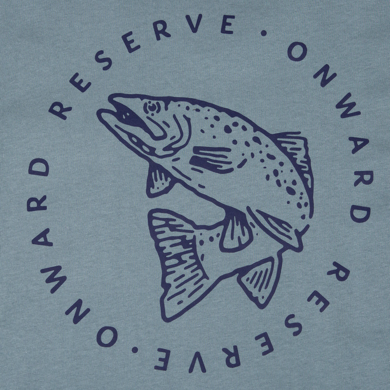 Trout Short Sleeve Tee- Blue stone