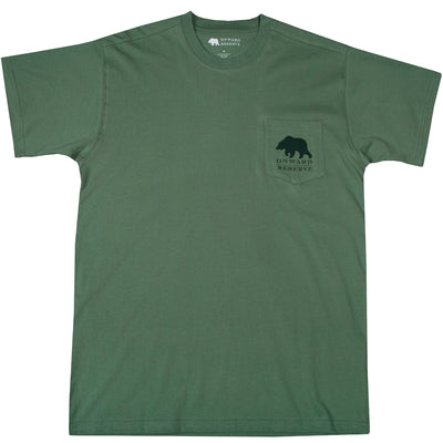 Golf Bear Short Sleeve Tee- Comfrey Green