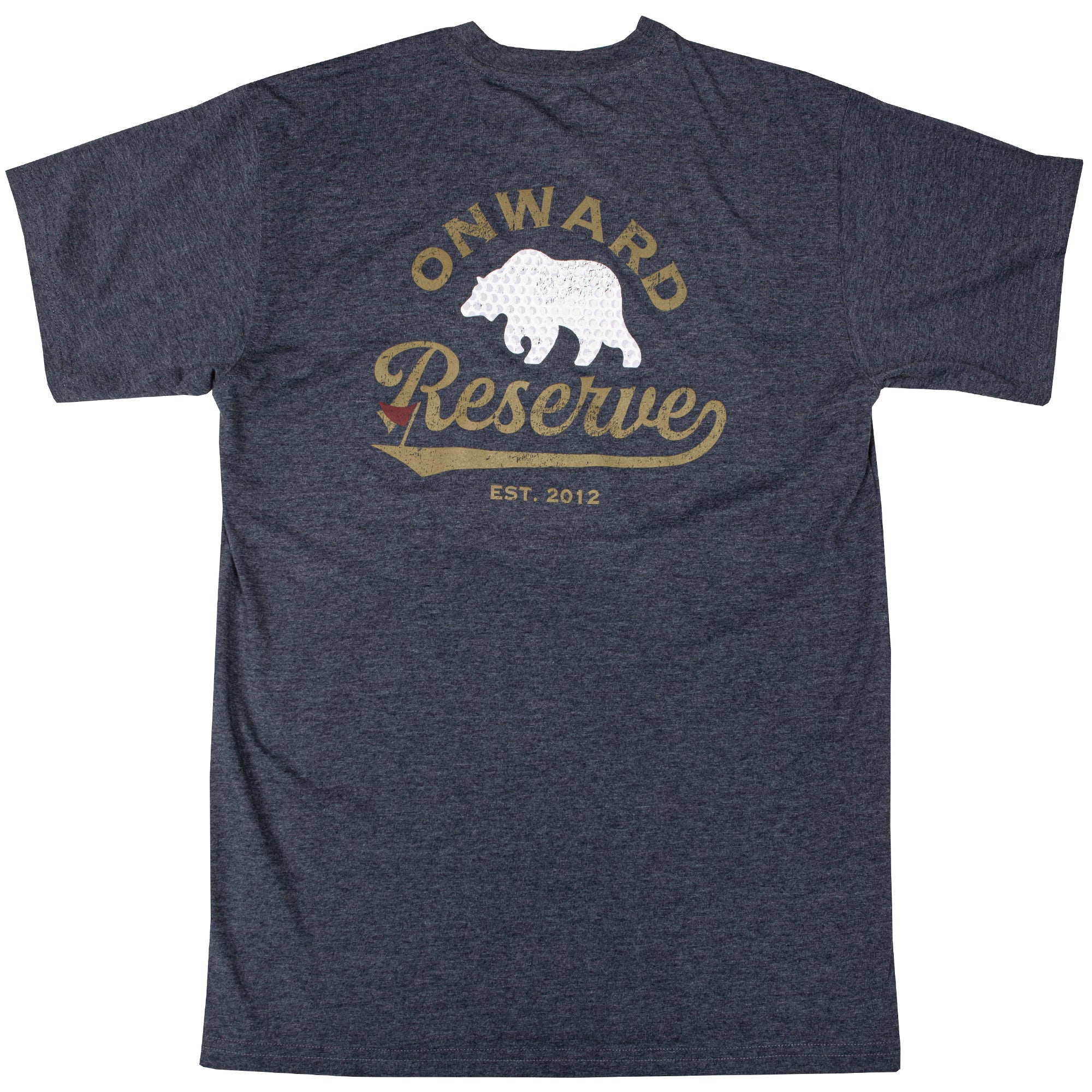 Golf Bear Short Sleeve Tee- Heather Navy