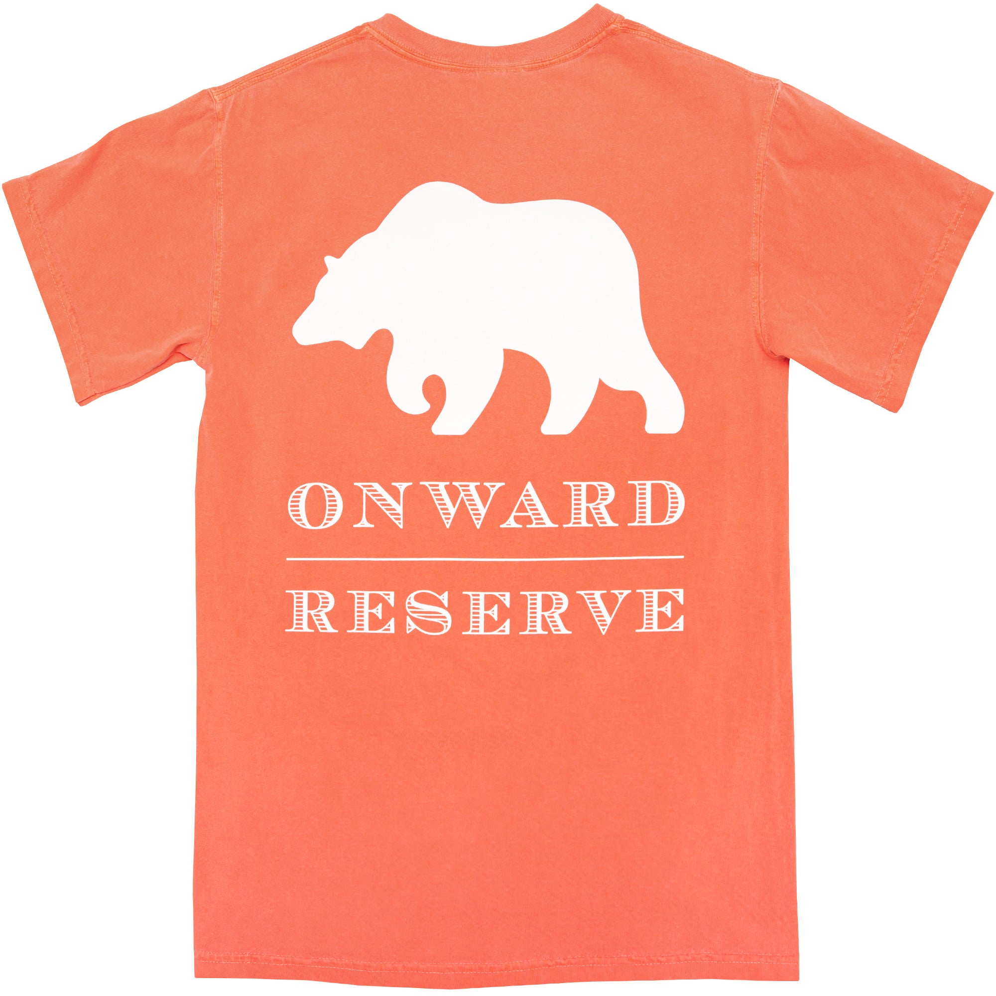 Rustic Bear Short Sleeve Tee - Salmon