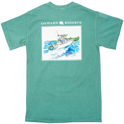 Center Console Tee - Seafoam - OnwardReserve