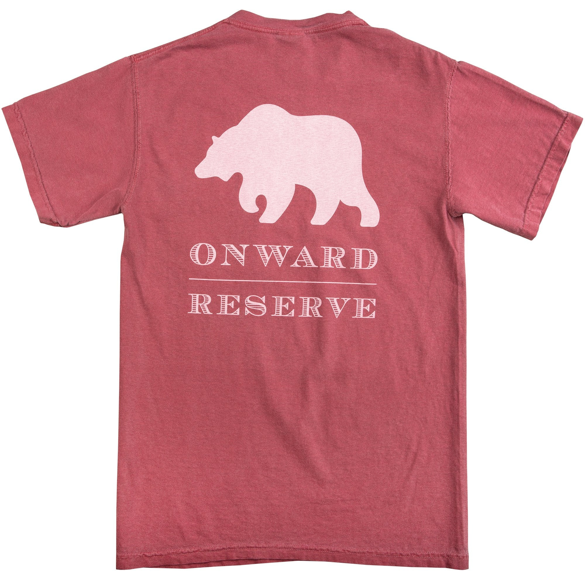 Rustic Bear Short Sleeve Tee - Red