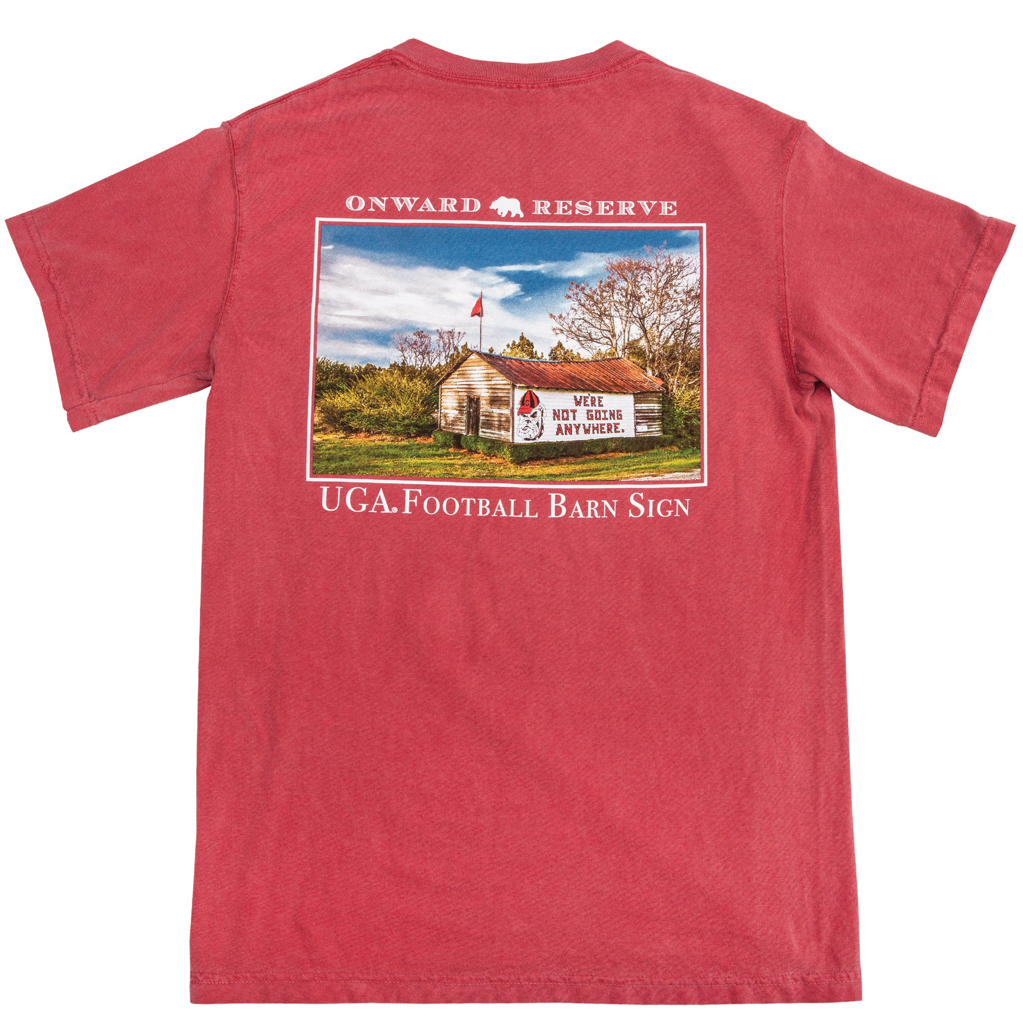 "UGA ""Not Going Anywhere"" SS Barn Tee - OnwardReserve"