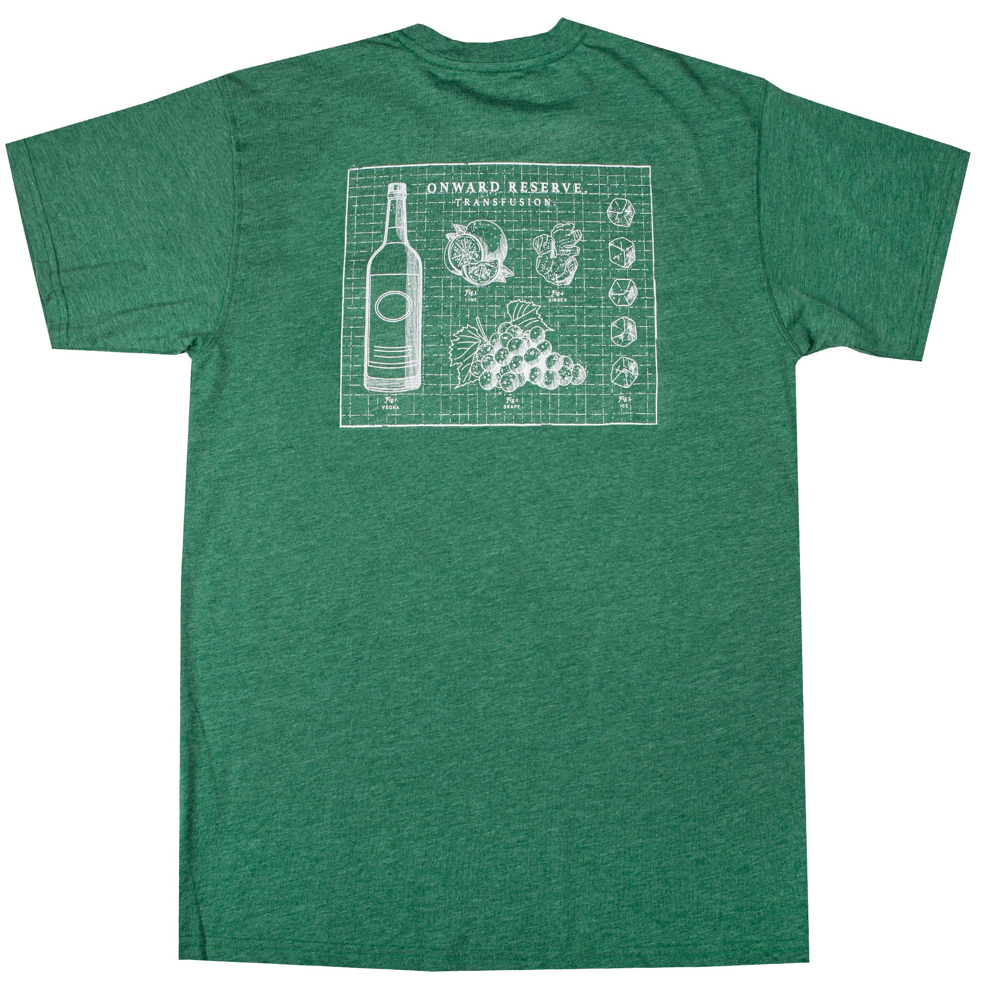 Transfusion Short Sleeve Tee- Heather Verdant Green